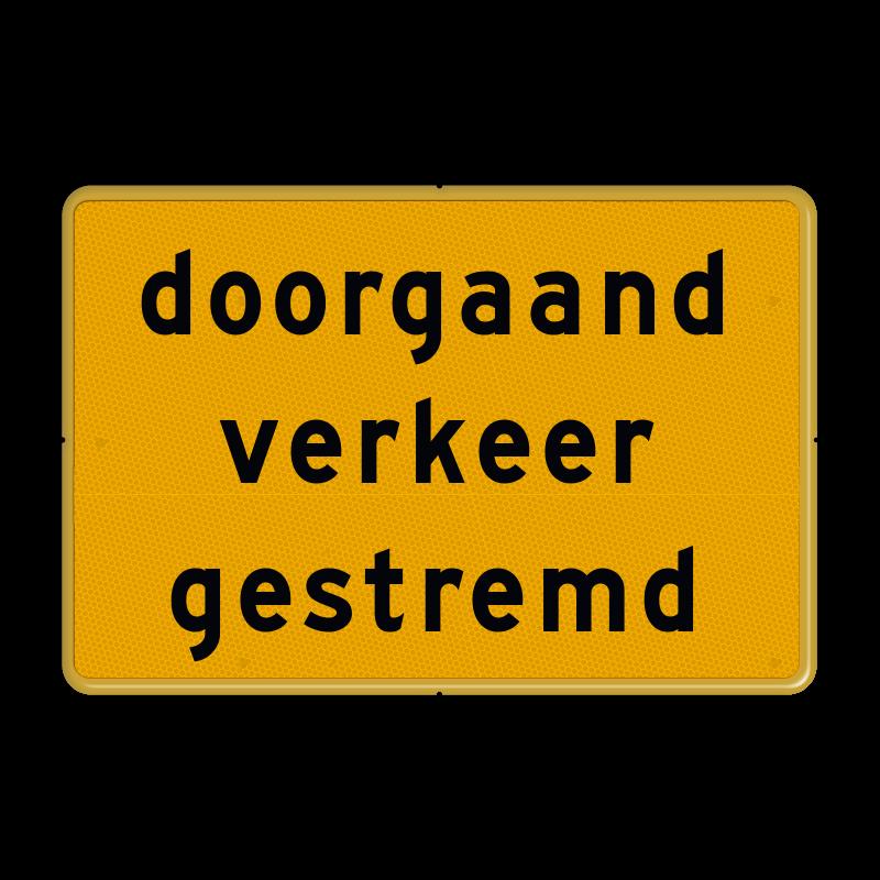 bord doorgaand verkeer gestremd, msr verhuur